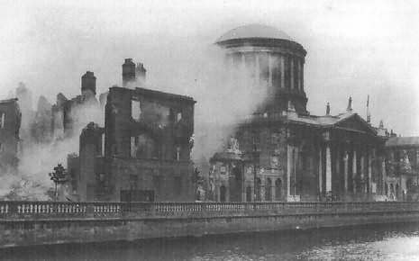 Four Courts in Dublin shelled during the Civil War